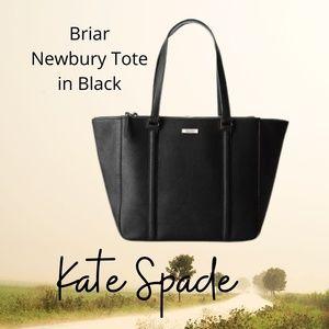 NWT Kate Spade black leather tote